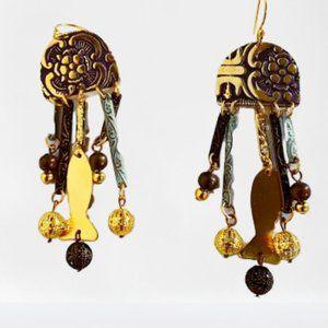 Anthropolog Sibilia Mixed Metal Earrings NWOT